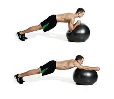 The roll out is one of the best Swiss ball core excercises