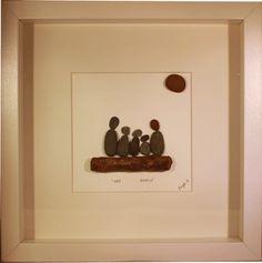 Family portrait made of #pebbles #art #gift