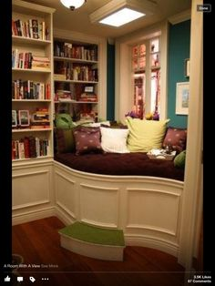 Book nook. We can pretend I read