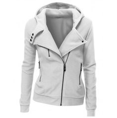 Womens Fleece Zip-up Hoodie. Looks like a moto jacket shopping.downjacketshoponline.com $190 #WhatSheWants Do Not Lose The Chance To Own Moncler jacket With A Low Price