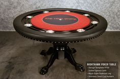 The Nighthawk is one of our most popular tables here at BBO Poker Tables. Seats 8, offers a classic style that fits in many homes, and brings together everyone for fun. http://www.bbopokertables.com/NightHawk.html