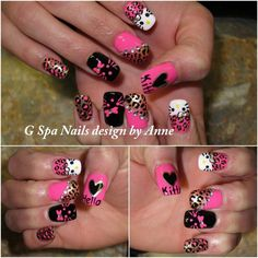 Hello Kitty Nail Decorations | hello kitty nails | Nails designs