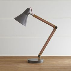 Rex Grey Desk Lamp | Crate and Barrel
