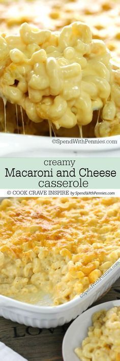 This Creamy Macaroni and Cheese Casserole is a show stopper! It's easy to ma… This Creamy Macaroni and Cheese Casserole is a show stopper! It's easy to make with tons of rich cheese sauce and a secret ingredient making it extra delicious! Macaroni And Cheese Casserole, Creamy Macaroni And Cheese, Mac And Cheese Homemade, Casserole Recipes, Easy Mac And Cheese, Homemade Mac And Cheese Recipe With Cream Cheese, Creamy Cheese Pasta Sauce, Cracker Barrel Mac And Cheese Recipe, Gastronomia