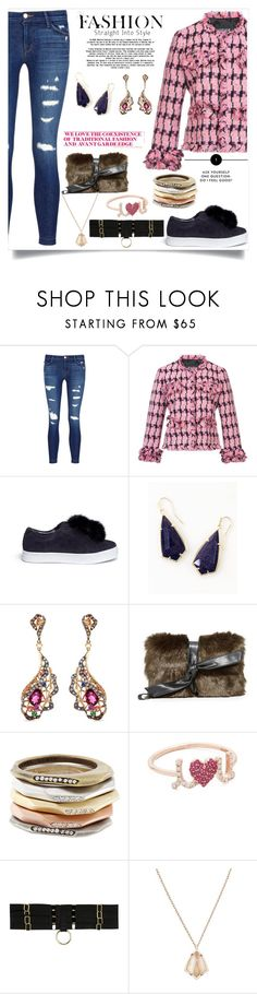 """Straight into a style"" by camry-brynn ❤ liked on Polyvore featuring J Brand, Boutique Moschino, Sam Edelman, Kendra Scott, Wendy Yue, Vasic, Sydney Evan and Bordelle"