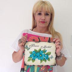 Obra de Celuna, alumna de 1er año del Profesorado de #pinturadecorativa #art #flower https://j.mp/decorativa