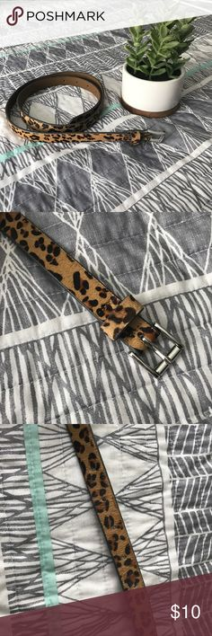 NWOT Ann Taylor Loft Leopard Belt This belt is genuine leather and has never been worn. There are no markings and the slight fur on the outside is all intact. It is a size medium and runs true to size. LOFT Accessories Belts