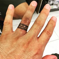 Mens Wedding Ring Tattoo Ideas