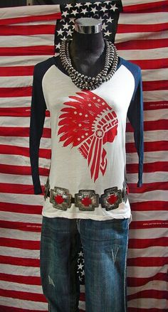 I would wear a Western chief t-shirt with denim jacket. No Belt for my short waist. Cowgirl Chic, Western Chic, Cowgirl Style, Western Wear, Gypsy Cowgirl, Ethnic Jewelry, Pretty Outfits, Cool Outfits, Country Girls