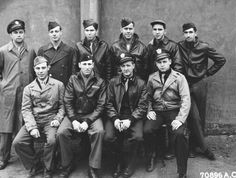 """My great uncle Leonard F. Gibbs (top right) tech sgt./top turret gunner with his crew members of B17 tail # 42-97942 """"Heavenly Body II"""" 8th Air Force 379th Bombardment Group, my hero"""
