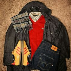 AWAY DAYS - LACOSTE, CP COMPANY JACKET, BARBOUR, EDWIN DENIM AND YELLOW/RED TRIMM STARS....