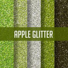 Glitter Digital Paper Set Instant Download by WhatIsScrapbooking, $0.50