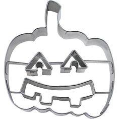 Haus Prägung Halloween Kürbis mit Gesicht Cookie Cutter, silber