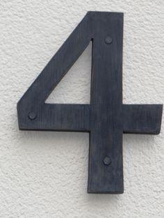Buchstaben & Schriftzüge - Hausnummern, im shabbystyle - ein Designerstück von Designsouris bei DaWanda