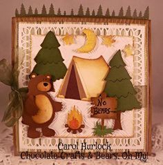 """Carol Hurlock: Chocolate, Crafts and Bears, Oh My – CottageCutz 2014 """"In the Woods"""" Release/Preview Day 6 - 11/26/14"""
