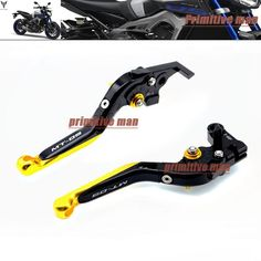 31.99$  Watch now - http://alijq1.shopchina.info/1/go.php?t=32571408453 - LOGO MT-09 For YAMAHA MT 09 MT-09 Tracer 2014-2015 Adjustable Folding Extendable Brake Clutch Levers Gold  #shopstyle