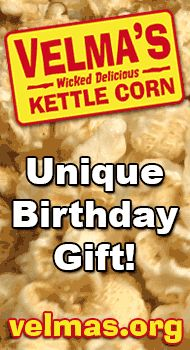 http://velmas.org - Unique birthday gift ideas. Kettle corn makes an interesting, different and unique birthday gift idea. $20 #birthday #unique #gift #idea