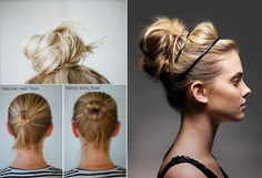 I've been rocking this bun for awhile now. Perfect for those bad hair days!!