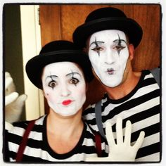 Up Dresses, Mime Artists, Dresses Ball, Tuxedos Wedding, Mime Makeup . Mime Costume, Circus Costume, Halloween Costumes For 3, Mardi Gras Costumes, Cool Costumes, Halloween Couples, Costume Ideas, Happy Halloween, Halloween Party