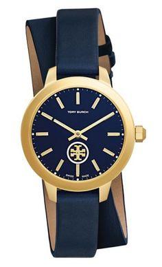 New England Preppy: Tory Burch Collins Double Wrap Watch | CoastalLiving.com