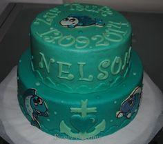 sweet dreams baptism cake Sweet Dreams Kuchen zur Taufe Fische, Torte, blau, grün