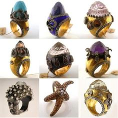 Some of the astounding pieces by Turkish jewelry designer Sevan Bicakci. Out-of-this-world gorgeous, aren't they?