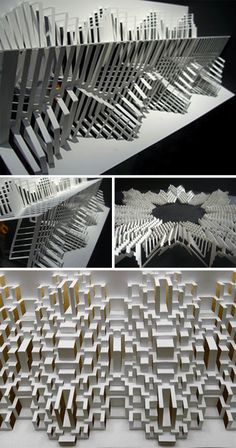Elod Beregszaszi is a master of paperwork, but not in the normal sense. He cuts, folds, embosses and sculpts amazing work out of paper. Origami And Kirigami, Origami Paper Art, Architecture Origami, Paper Structure, Instalation Art, Pop Up Art, Fractal, Paper Engineering, Art Japonais
