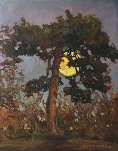 by Jan Schmuckal Selling Paintings, Paintings I Love, Canvas Paintings, Landscape Art, Landscape Paintings, Moonlight Painting, Western Art, Painting Inspiration, Style Inspiration