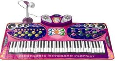 iPlay Keyboard & Microphone PlayMat W/built-in Amplifier for Portable CD/MP3 Plug in by Kids Authority. $42.97. 61 Keys + 35 Function Mode Buttons ,16 Musical Instruments,10 Different Rhythms. 8 Drum Keys ,3 Chord Modes ,2 Edit Modes ,Record Mode ,Lesson Mode. Blinking Lights Accompany With Rhythm Speed,Can Be Used As Karaoke. With Built-in Amplifier for Portable CD/MP3 Plug in. Speakers That Play Music From Portable CD Player Or MP3 Player Allow You To Sing Your Favorite Son...