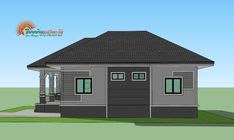 A single storey house is affordable. It also offers more flexibility as it can combine spaces that serve multiple functions. Simple Bungalow House Designs, Modern Bungalow House Design, Duplex House Design, Simple House Design, Free House Plans, Family House Plans, Small House Plans, 30x40 House Plans, Two Story House Design