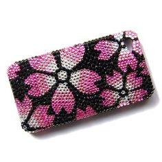Hawaiian Flower Tropic Fashion iPhone 4S 4 Case Cover Swarovski Crystal Element