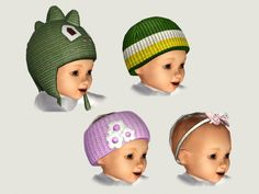 EA Hats for Babies four more by Danjaley • Sims 3 Downloads CC Caboodle