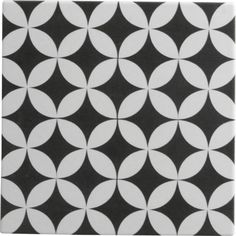 Order Rustico Tile and Stone Encaustic Cement Tile Circulos WB Geometric Pattern / delivered right to your door. Mosaic Tiles, Wall Tiles, Tiling, Gatsby, Mandarin Stone, Outdoor Tiles, Black And White Tiles, Black White, Encaustic Tile