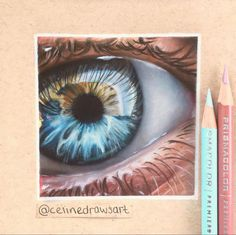 Cool Eye Drawings, Anime Drawings Sketches, Realistic Drawings, Colorful Drawings, Colored Pencil Artwork, Color Pencil Art, Minion Painting, Eyes Artwork, Acrylic Painting Flowers