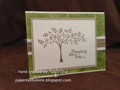 PaperTextureInk: Sympathy with Stampin' Up! Thoughts & Prayers stamp set
