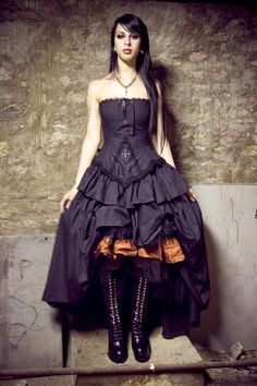 A superb example that black does not have to mean Gothic - this feminine wedding dress from KMK Designs is stunning.