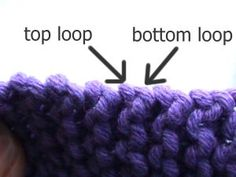 Invisible vertical                                      seaming on garter stitch