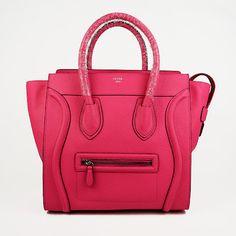 Celine Mini - Fluro Pink Original Leather