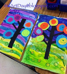 It is Art Day!: Kandinsky Trees