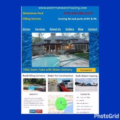 Please visit our web site www.watermanwaterhauling.com or call 24/7 (973)-383-1865