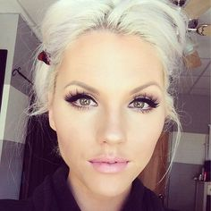 smokey eye for pale skin and lipstick - Google Search