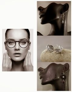 Natalia Khon's Blog: How to wear jewelry with glasses (see more samples in my blog post)