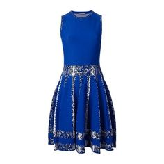 Dress ALEXANDER McQUEEN ($1,185) ❤ liked on Polyvore featuring dresses, short dresses, skater skirt, round neck sleeveless dress, sleeveless dress and alexander mcqueen dresses