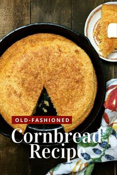 Hot out of the oven, this Southern-style Old-Fashioned Cornbread from the Deep South with its delicious corn flavor and crispy, crunchy edges has been a family favorite for generations. It's a quick and easy, gluten-free recipe. Classic cornbread, made with buttermilk in a cast-iron skillet, is a true Southern staple. #cornbread #southerncornbread #glutenfree #thanksgiving Recipes Kids Can Make, Easy Recipes, Easy Meals, Old Fashioned Cornbread, Homemade Buttermilk, Cornbread Dressing, Food Words, Southern Recipes, Southern Style