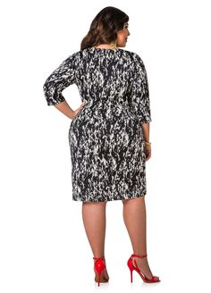 Printed Wrap Dress - Ashley Stewart