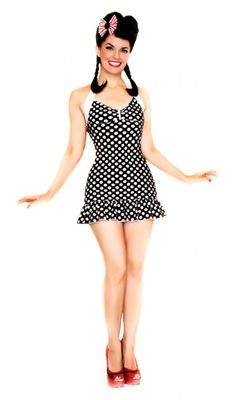 Classic Pin up bathing suit Lolita Girl Clothing