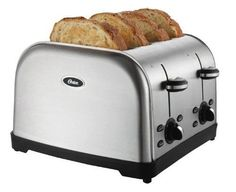 4-Slice Toaster Model Electric Works Extra Wide Slots Retractable Cord 7 Shades