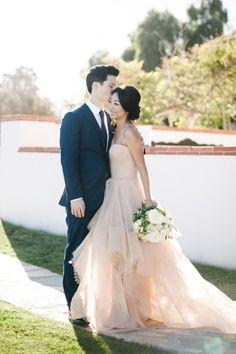 The blush dress! http://www.stylemepretty.com/little-black-book-blog/2015/02/02/romantic-malibu-summer-wedding/ | Photography: Hannah Arista - http://www.hannaharista.com/