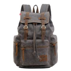 Backpack Type  Canvas   Genuine Leather Backpack   Carrying  System Physiological Curve Back   Closure Type  Zipper   Hasp   Capacity   Litre   Gender  Unisex ... 962fd46e4de9f