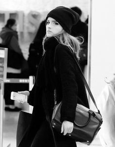 Emma Watson at JFK airport on April 20th, 2014